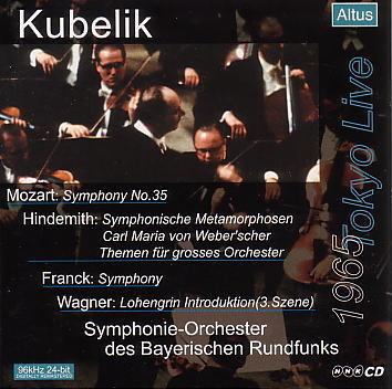 ALT009_Kubelik / BRSO - Franck : Symphony etc. (1965 Tokyo Live)