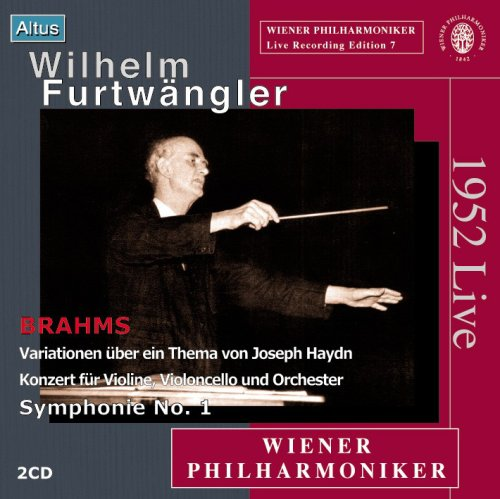 Furtwängler / VPO - Brahms : Double Concerto & Symphony No.1 (2CD, Mono)