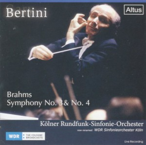 ALT161Bertini / WDR so. - Brahms : Symphony No.3 & 4